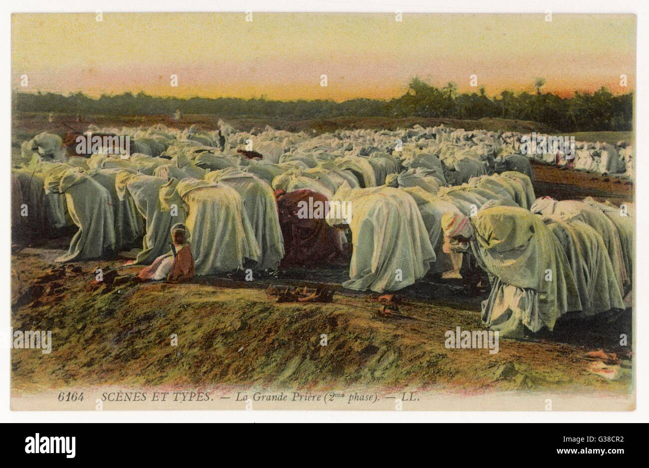 Algerian Moslems participate  in the Great Prayer         Date: circa 1905 - Stock Image