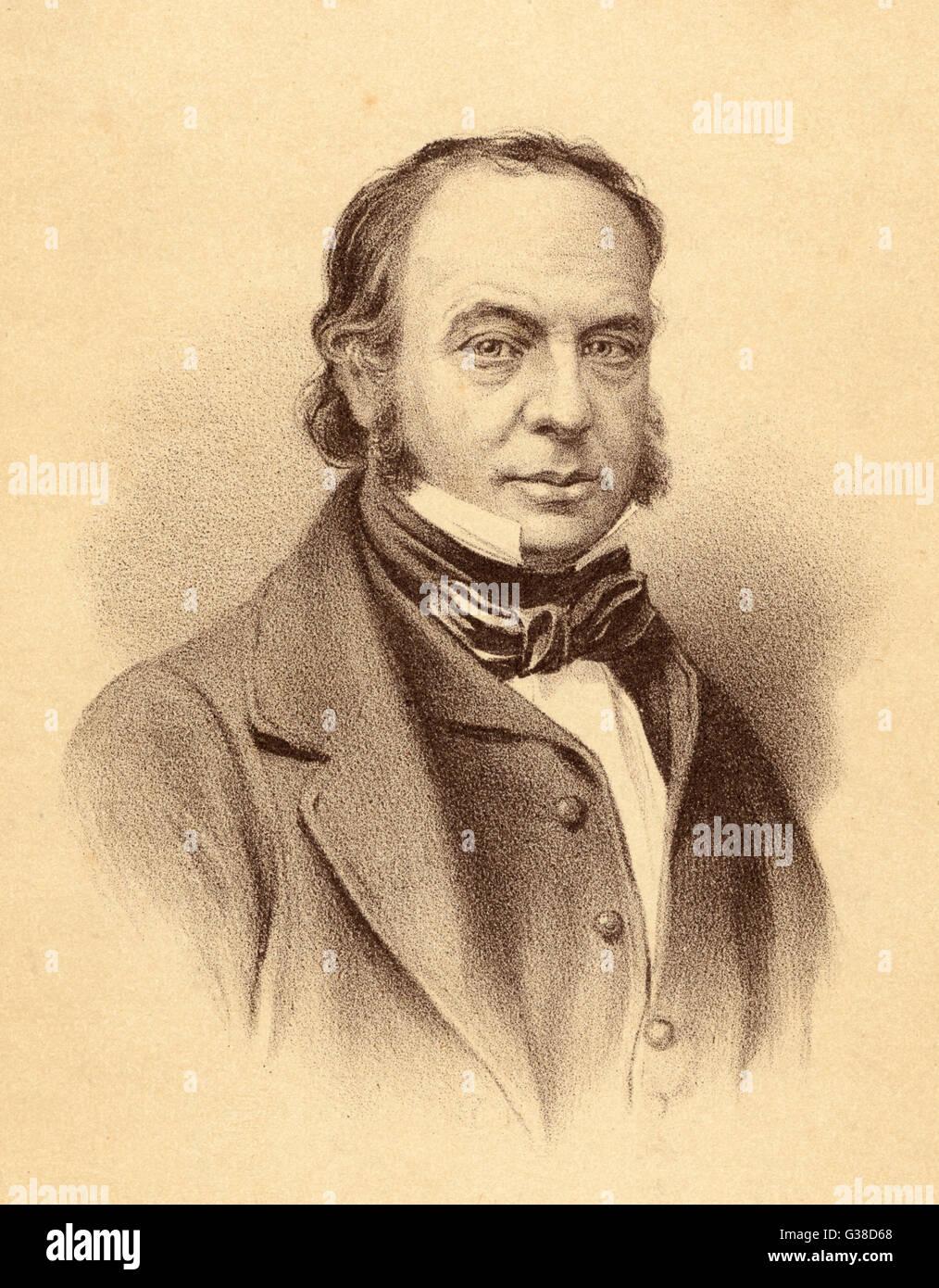 ISAMBARD KINGDOM BRUNEL  Designer and builder of  railroads, bridges, tunnels,  steamships, docks &c.   - Stock Image