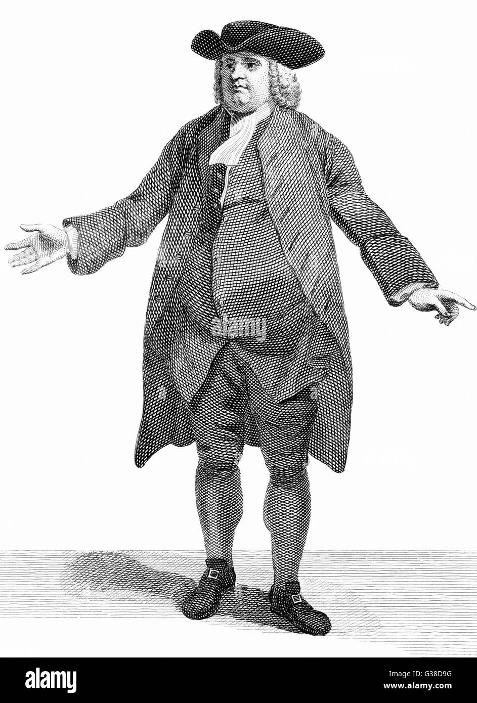 WILLIAM PENN  English religious reformer and  colonialist       Date: 1644 - 1718 - Stock Image