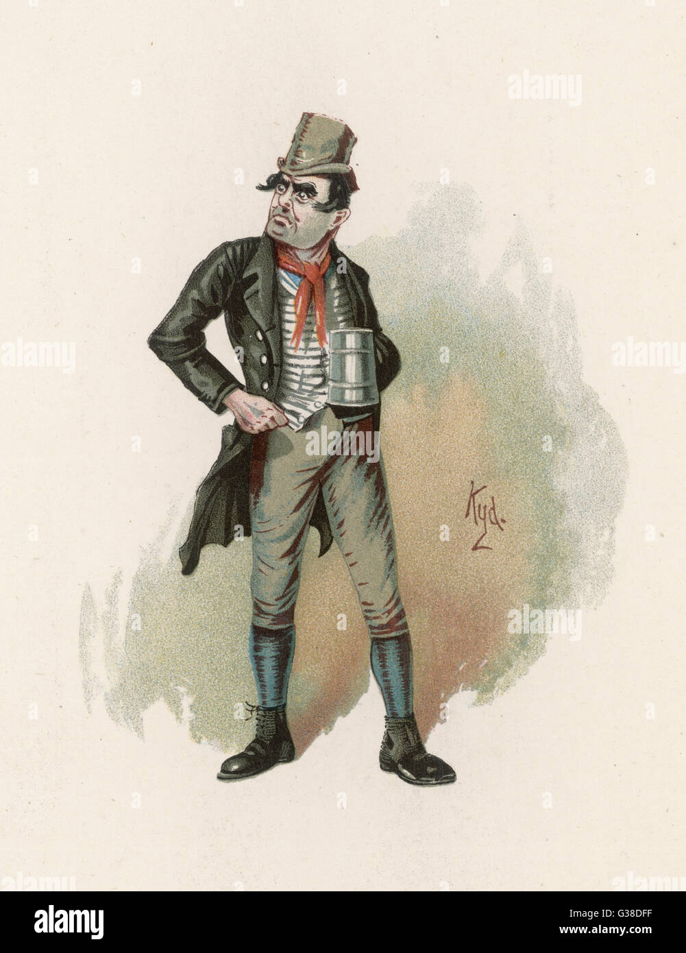 Bill Sykes.          Date: First published: 1836-37 - Stock Image