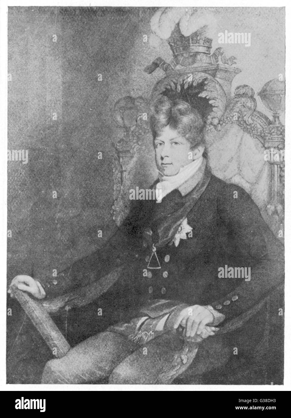 GEORGE IV in the regalia of Grand  Master of Freemasons        Date: 1762 - 1830 - Stock Image