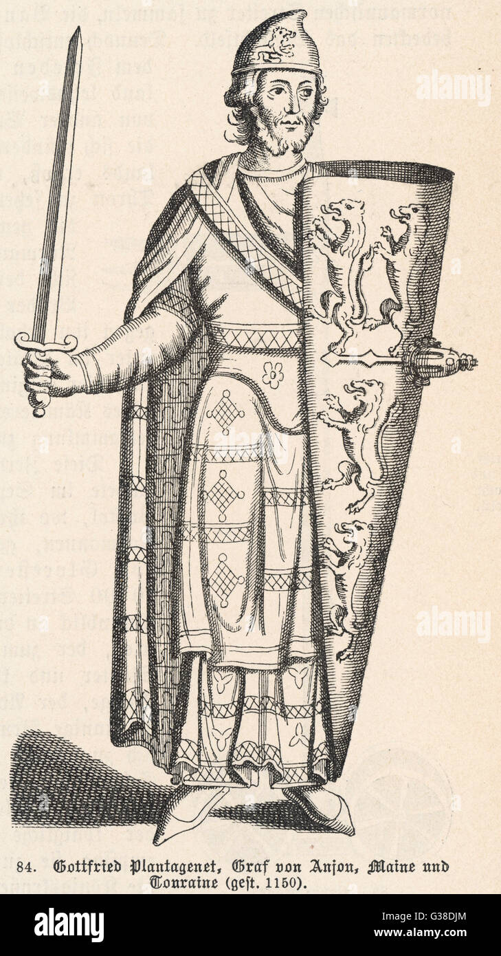 GEOFFREY PLANTAGENET, COUNT OF ANJOU Father of Henry II of England on all kings of england, statute of king john of england, danes of england, romantic poets of england, norman kings of england, stuarts of england, elizabeth woodville of england, tudors of england,