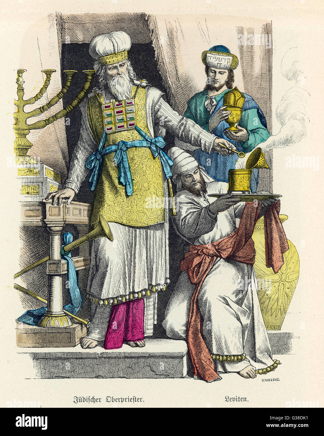 High Priest and Levites, in ancient times        Date: 1st century - Stock Image