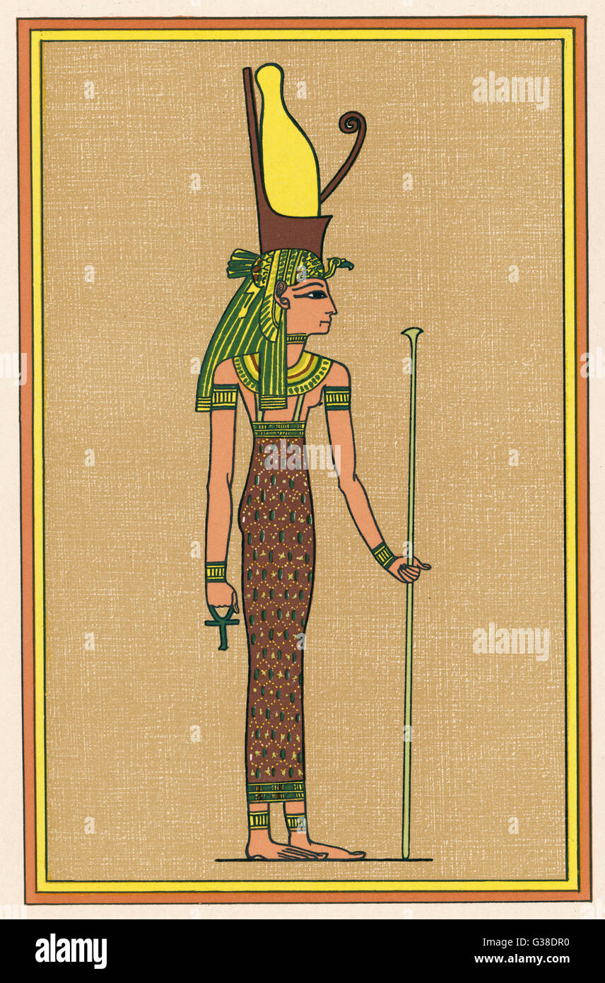 The supreme mother-god of  Thebes, and consequently the  symbolic mother the Pharaoh - Stock Image