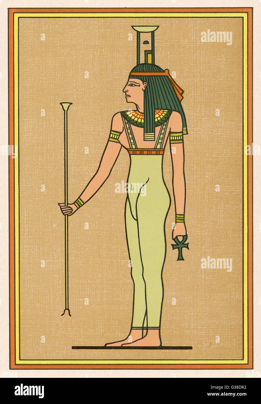 A funerary deity, she mourns  the Pharaoh when he dies,  and escorts him into the  Underworld. - Stock Image