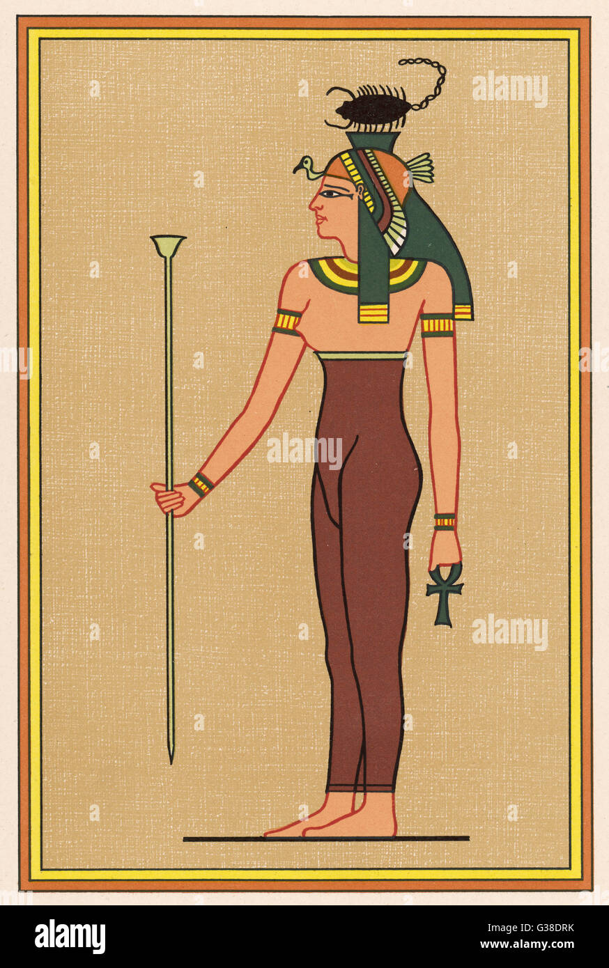 The scorpion-headed funerary  goddess, association with the  embalming of mummies - Stock Image