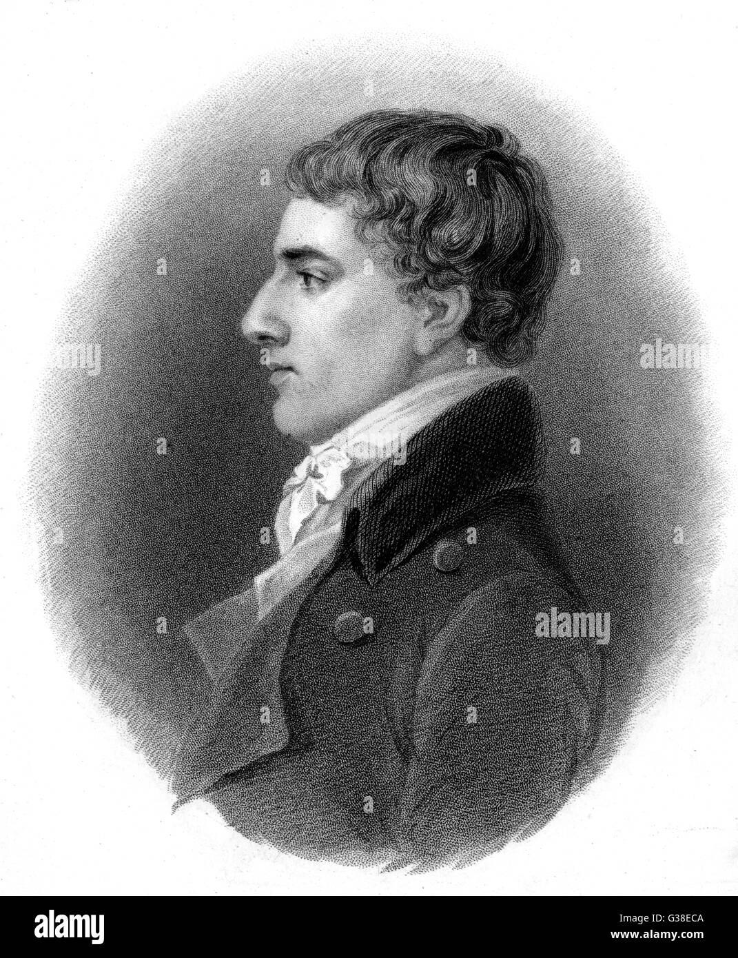CHARLES LAMB -  English writer and critic        Date: 1775 - 1834 - Stock Image