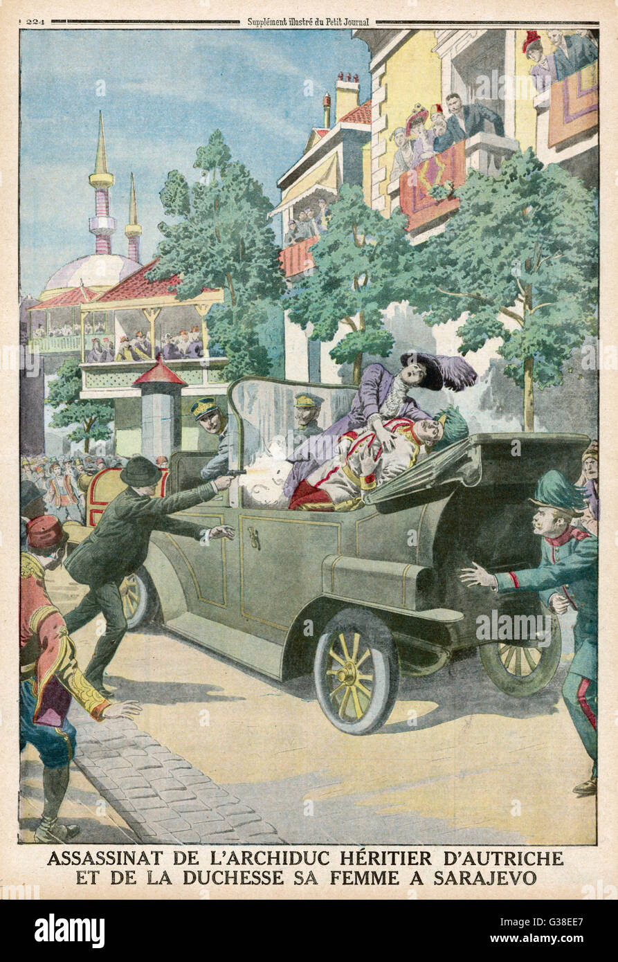 Archduke Franz Ferdinand And His Wife Assassinated In