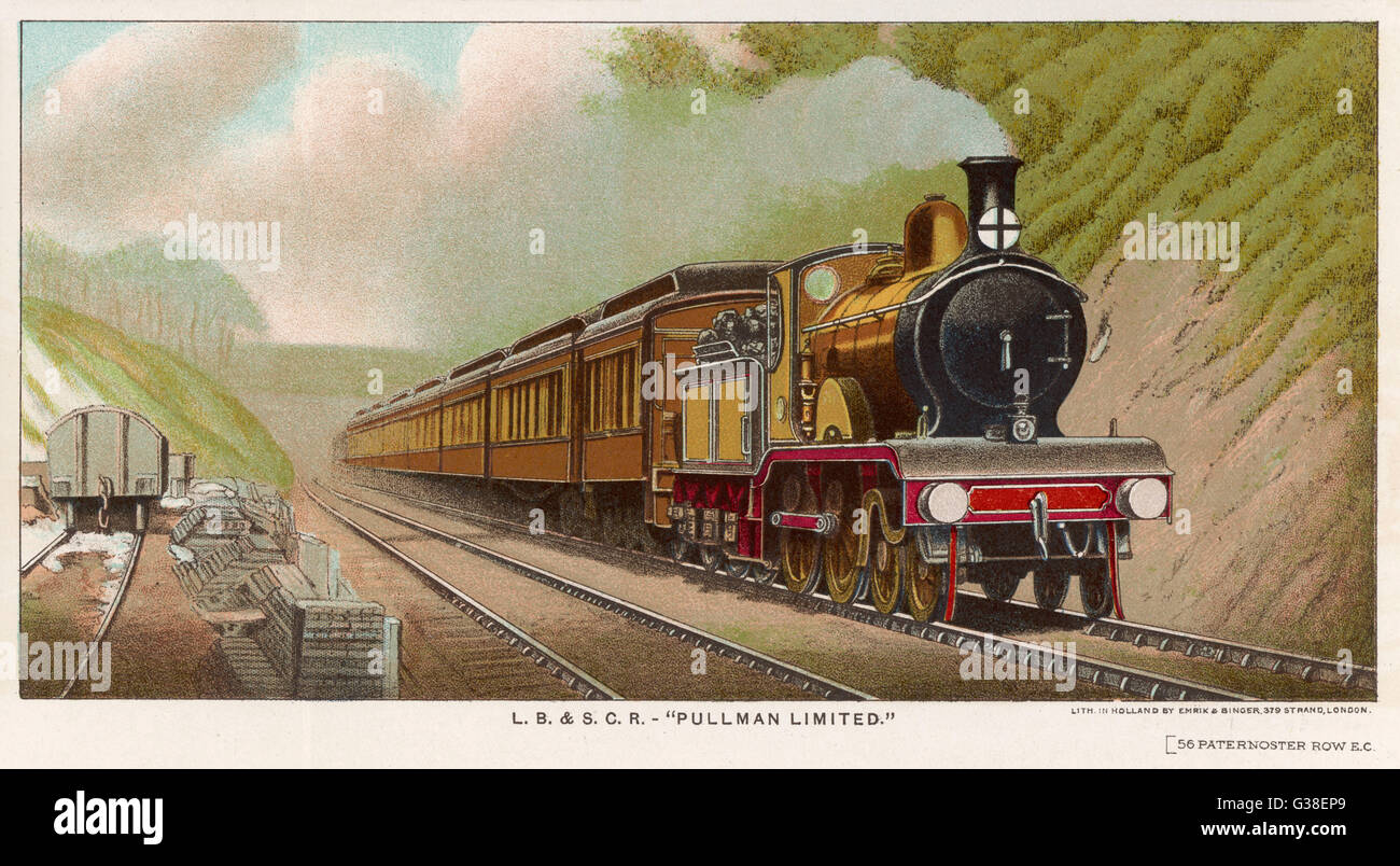 The 'Pullman Limited' of the  London, Brighton and South  Coast Railway       Date: 1901 - Stock Image
