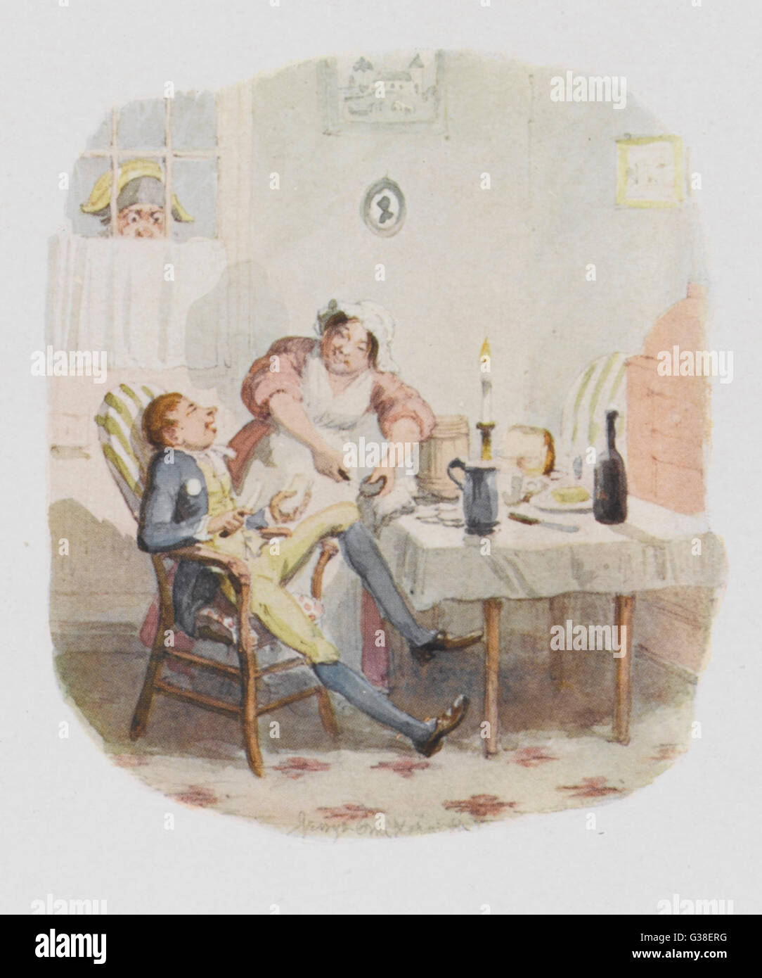 Mr Claypole.          Date: First published: 1836-37 - Stock Image