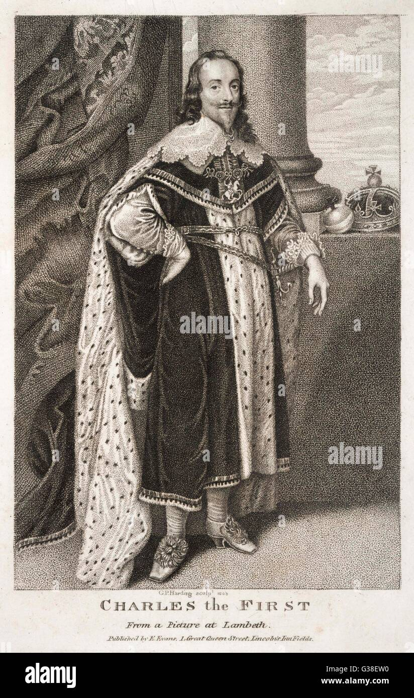 CHARLES I OF ENGLAND  The King in full regalia        Date: 1600 - 1649 - Stock Image