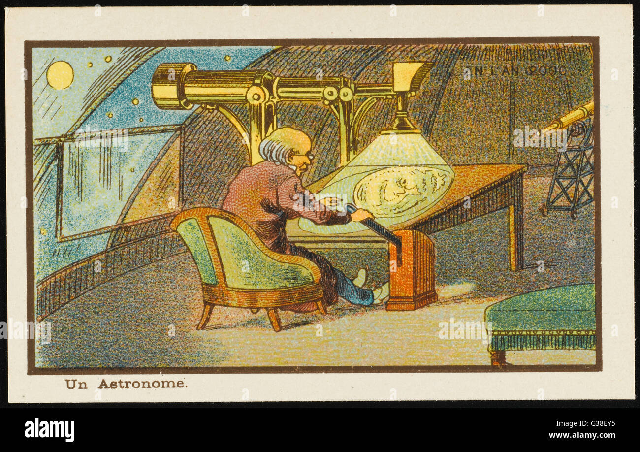 An astronomer of the year 2000         Date: 1899 - Stock Image