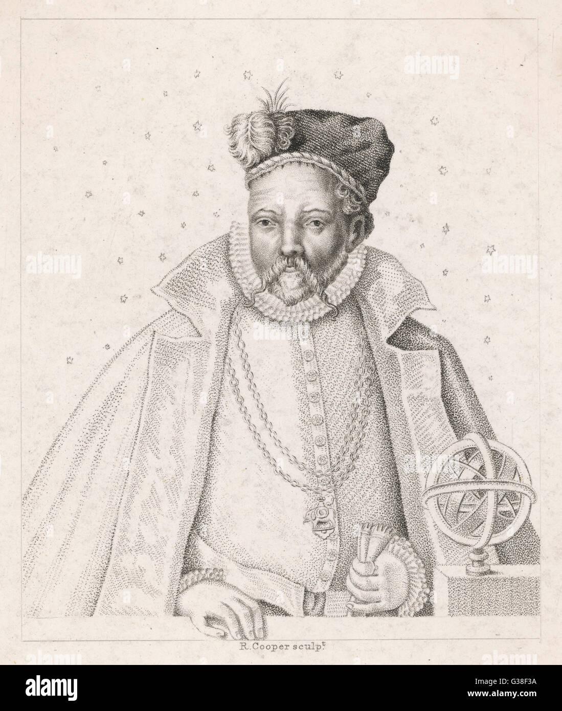 TYCHO BRAHE  Danish astronomer        Date: 1546 - 1601 - Stock Image