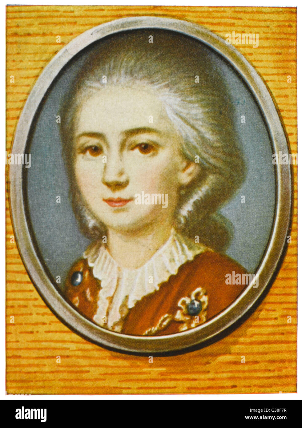 WOLFGANG AMADEUS MOZART  the Austrian composer as a  young man       Date: 1756 - 1791 - Stock Image