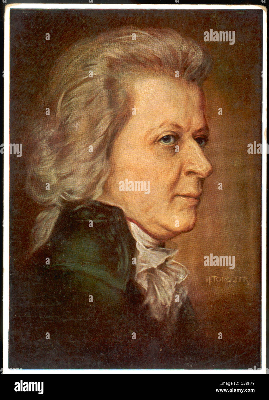 WOLFGANG AMADEUS MOZART (1756 - 1791) the Austrian composer in later  life - Stock Image