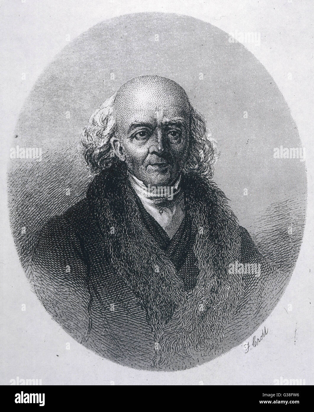 SAMUEL HAHNEMANN  Founder of homeopathy        Date: 1755 - 1843 - Stock Image
