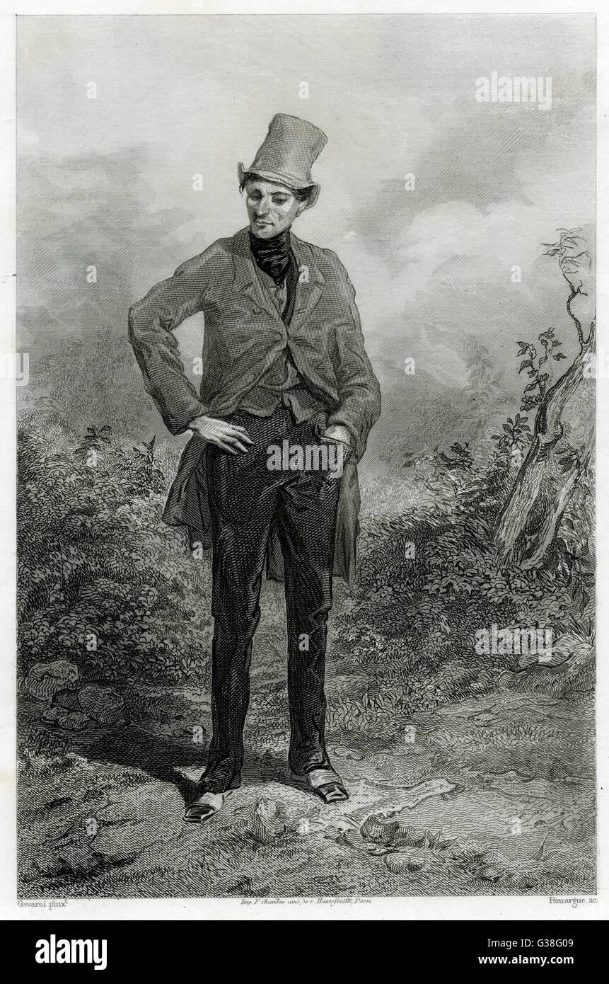 A 'BOHEMIAN'         Date: circa 1840 - Stock Image