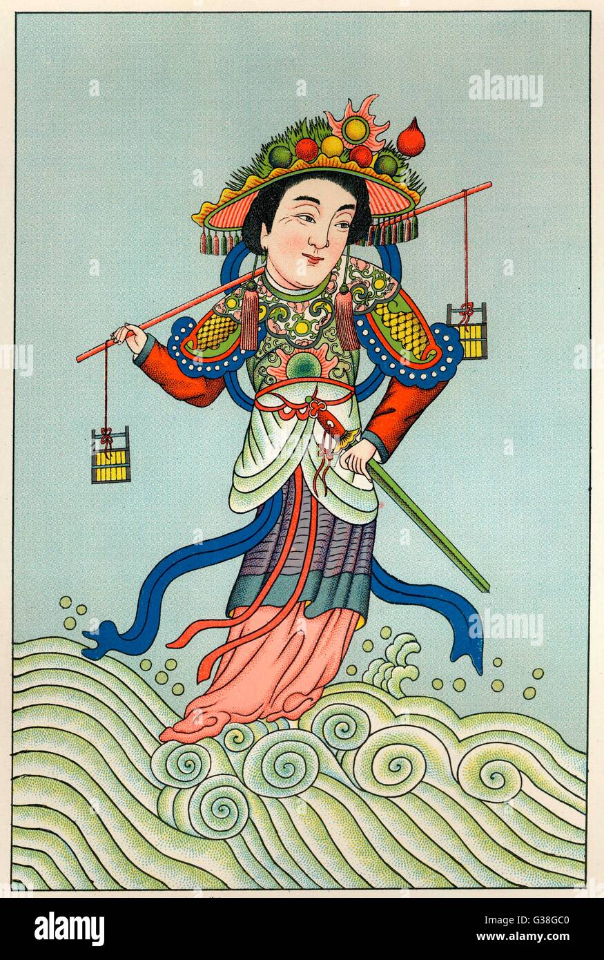 CHOEI-MOU-NIANG-NIANG goddess of water         Date: 1915 - Stock Image