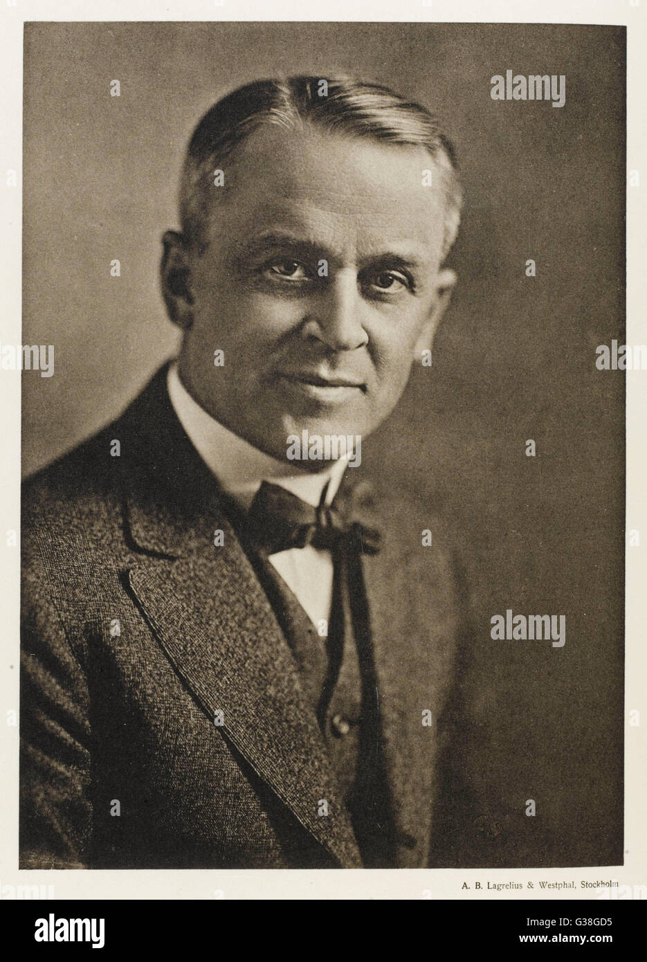 ROBERT MILLIKAN  American physicist        Date: 1868 - 1953 - Stock Image