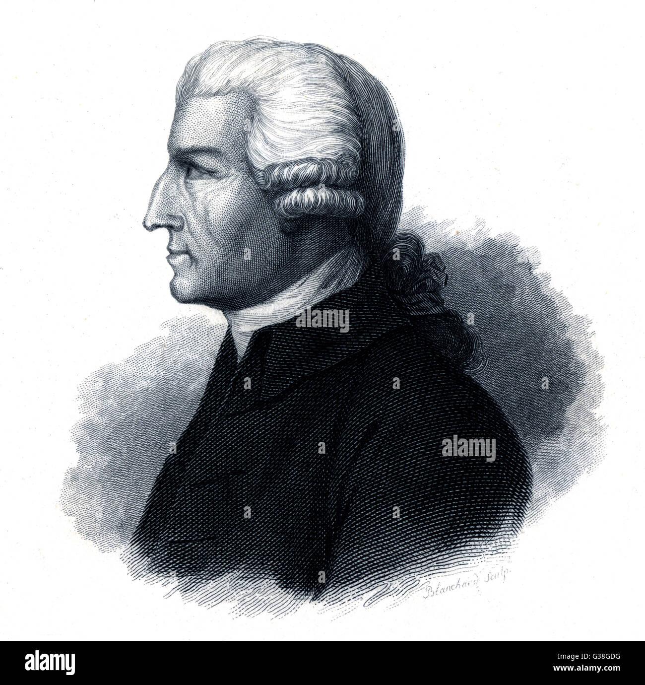 JOHN HOWARD  Reformer and philanthropist       Date: 1726 - 1790 Stock Photo