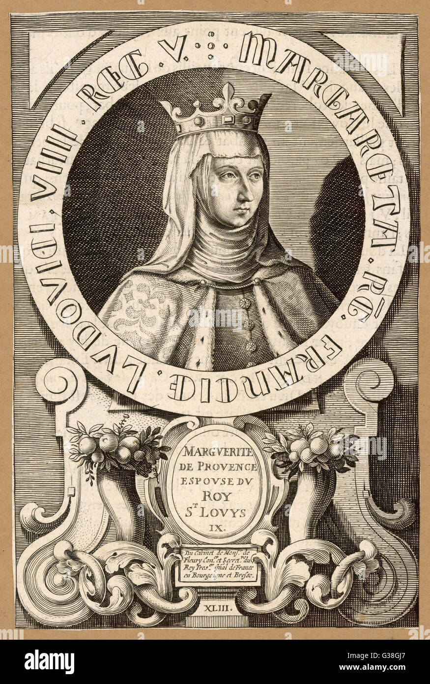 MARGUERITE DE PROVENCE queen of Louis IX,  king of France        Date: 1221 - 1295 - Stock Image