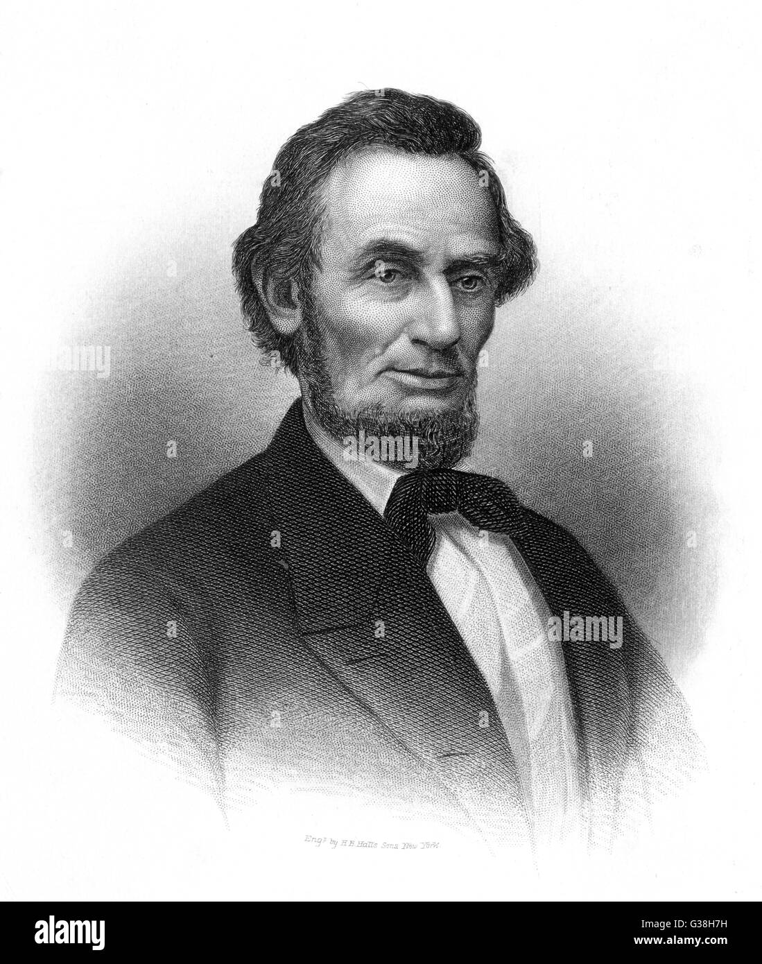 ABRAHAM LINCOLN (1809 - 1865) U.S. President - Stock Image