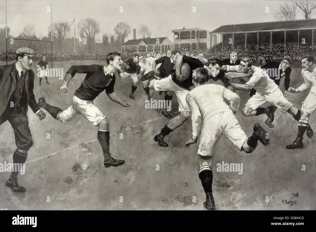 England versus Ireland at Richmond         Date: 1898 - Stock Image