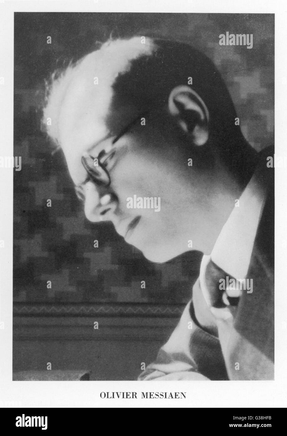 OLIVIER MESSIAEN  French musician        Date: 1908 - 1992 - Stock Image