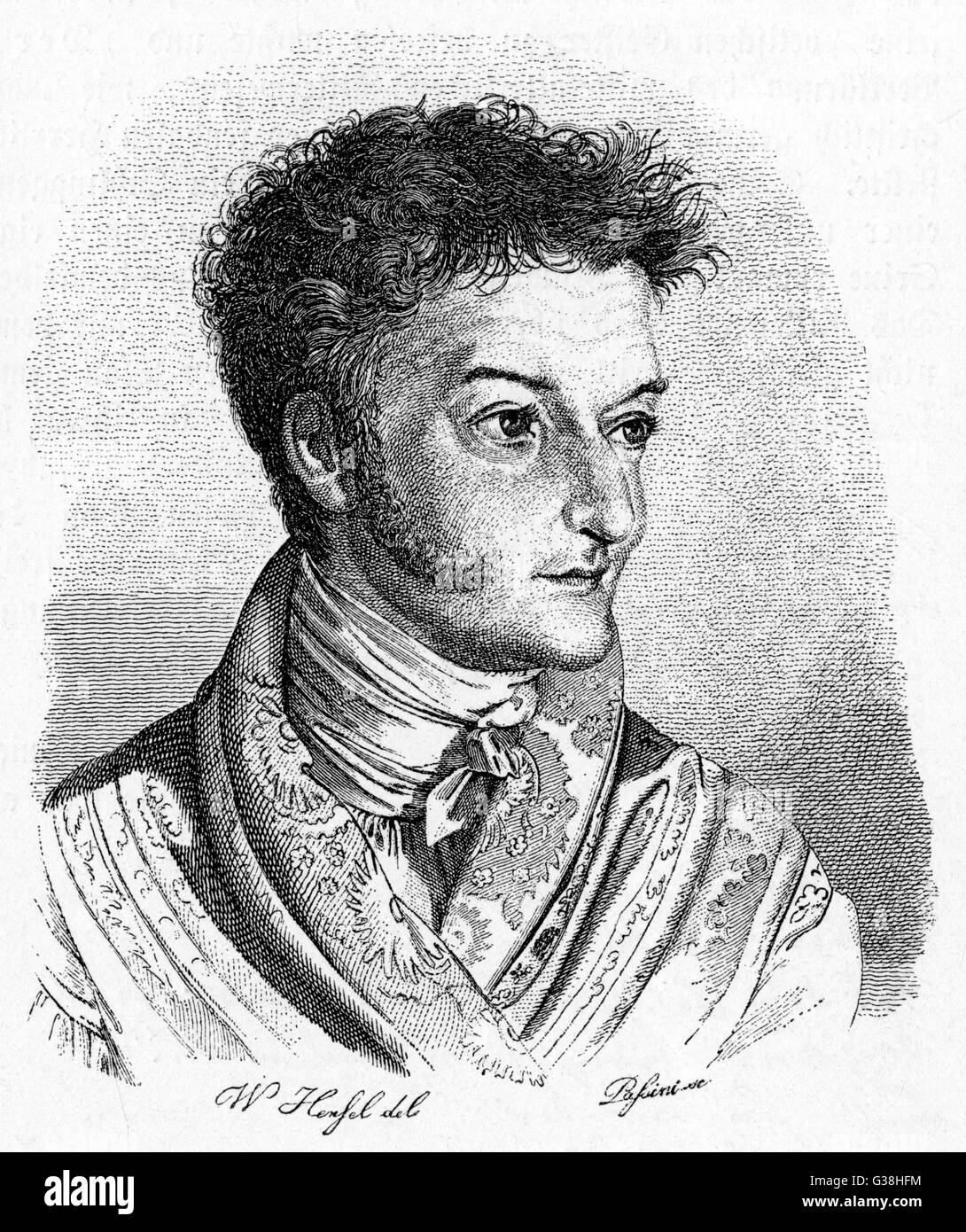 ETW HOFFMANN also known as ETA HOFFMANN (he took the  name Amadeus when composing) German Romantic writer and  composer - Stock Image