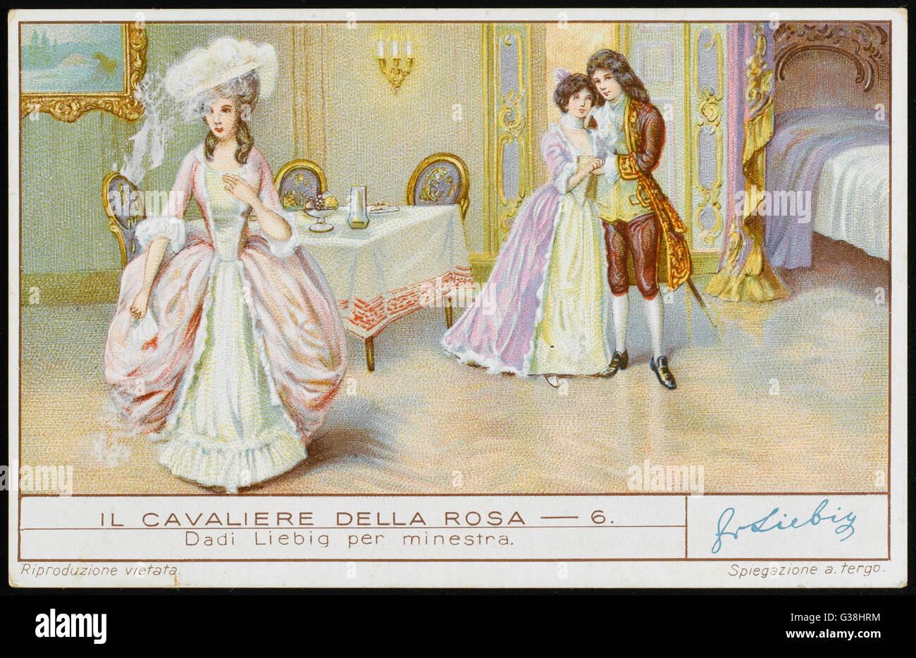 ROSENKAVALIER  the Princess of Werdenberg  unites Count Octavian and  Sophie von Faninal - Stock Image