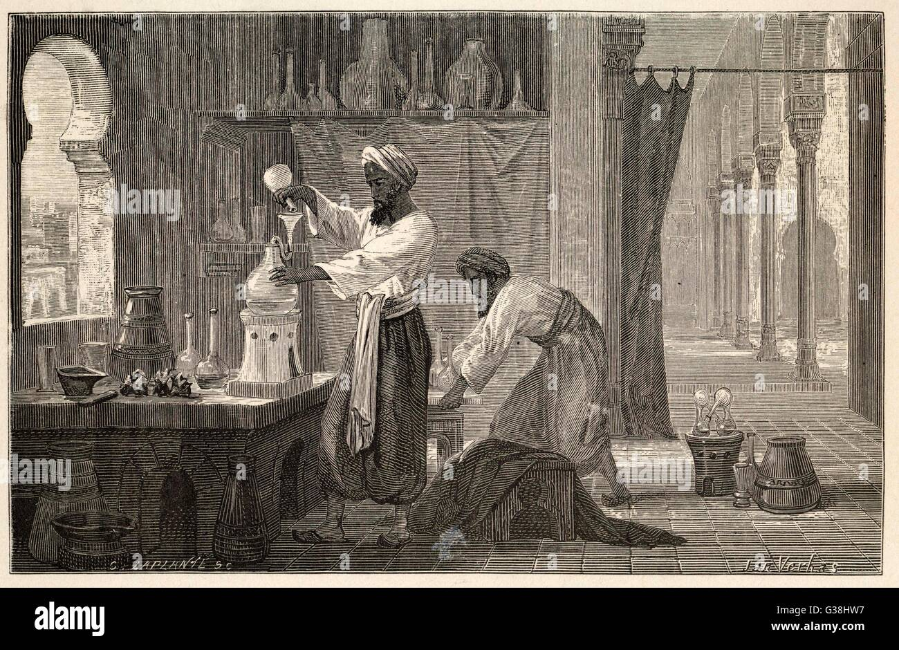 Abu Bakr Muhammad ibn Zakariya RAZI, known as RHAZES in the  west : Persian physician and  chemist, leader of Islamic - Stock Image
