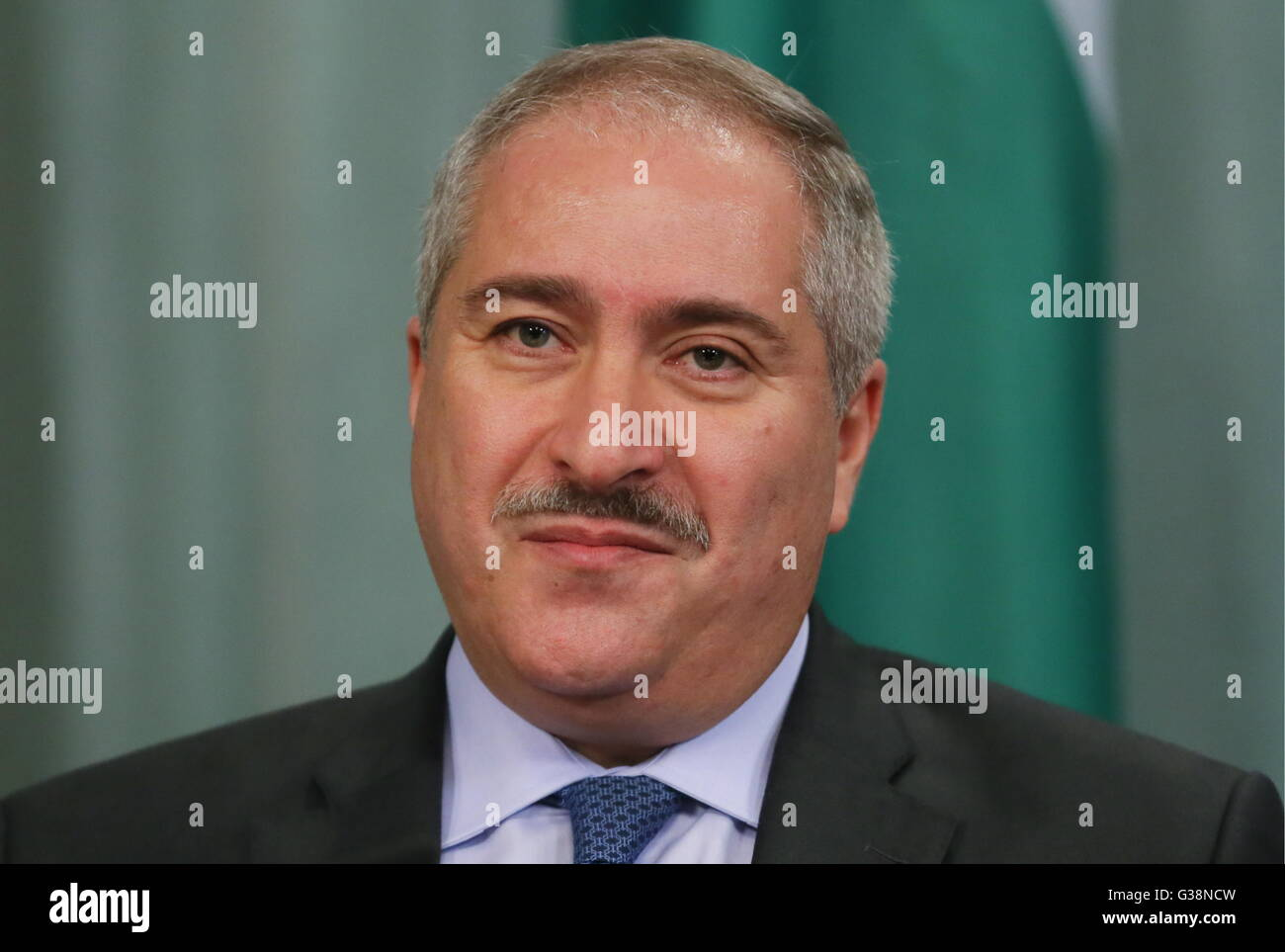 Moscow, Russia. 9th June, 2016. Jordan's minister of foreign affairs and expatriate affairs Naser Joudeh at a news Stock Photo