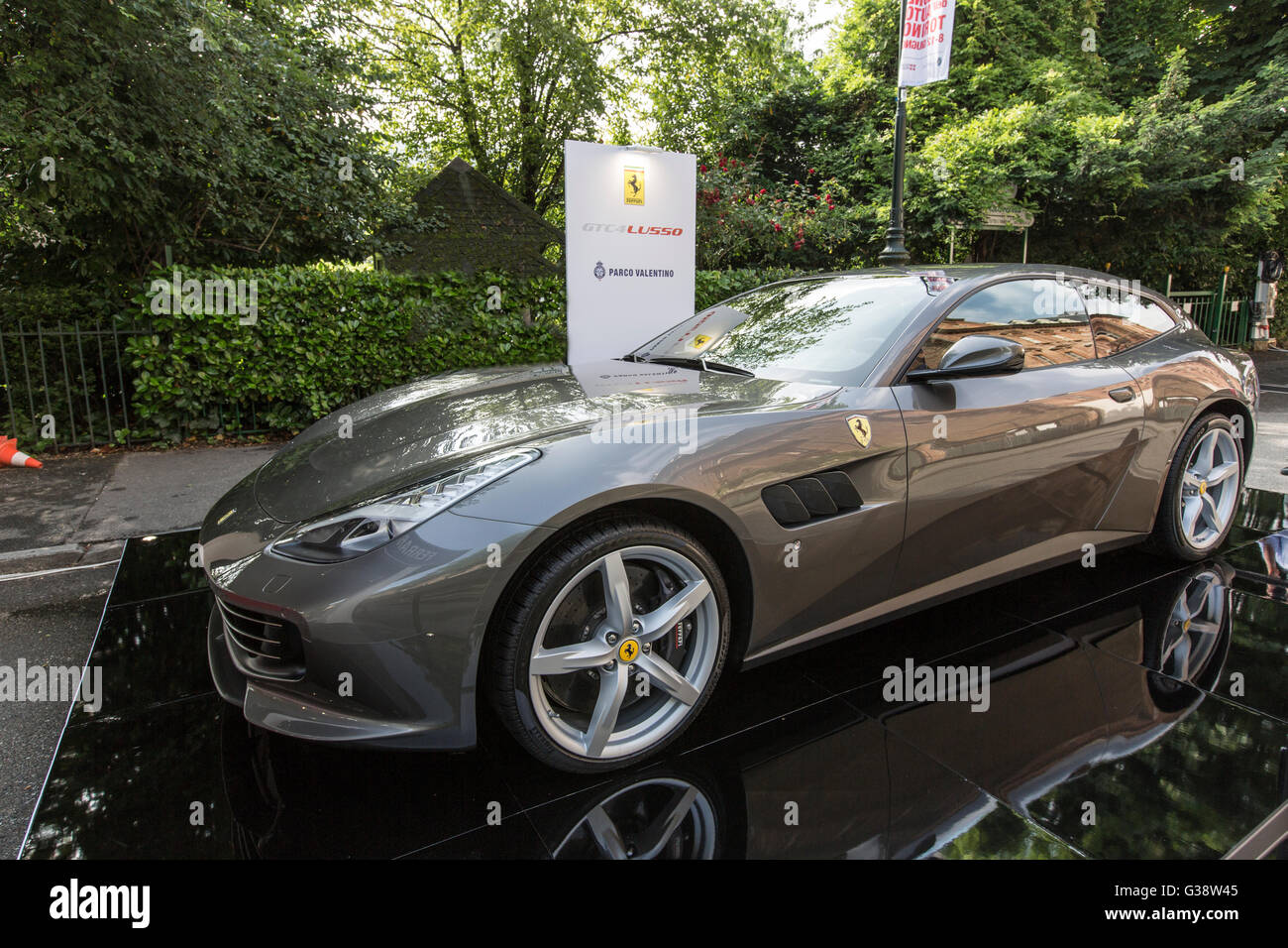 Turin, Italy. 09th June, 2016. Turin car show,from 8th to 12 th June 2016. Ferrari GTC4 Luxury Credit:  RENATO VALTERZA/Alamy - Stock Image
