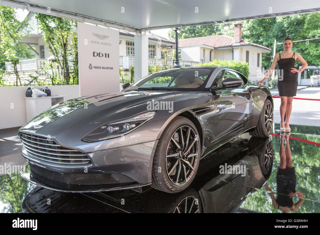 Turin, Italy. 09th June, 2016. Turin car show,from 8th to 12 th June 2016. Aston Martin DB11 Credit:  RENATO VALTERZA/Alamy - Stock Image