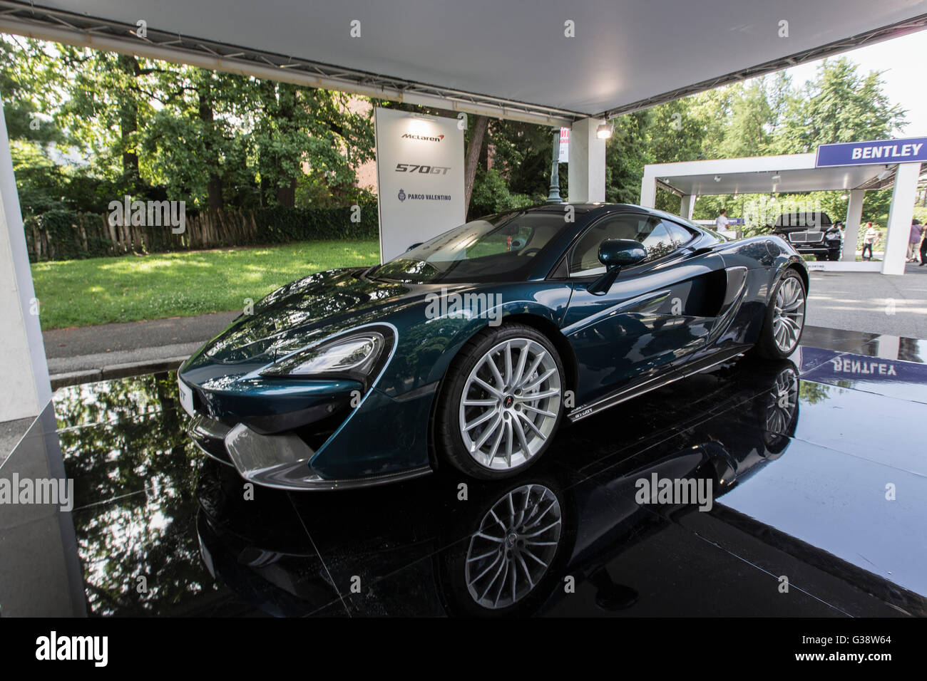 Turin, Italy. 09th June, 2016. Turin car show,from 8th to 12 th June 2016. McLaren 570 GT Credit:  RENATO VALTERZA/Alamy - Stock Image