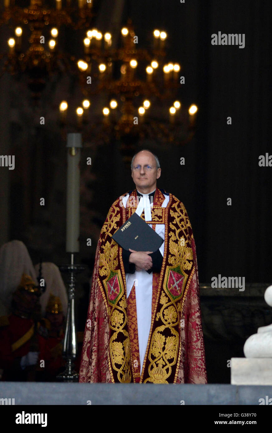 Archbishop of Canterbury, Justin Welby at National Service of Thanksgiving to mark Queen Elizabeth II's 90th - Stock Image