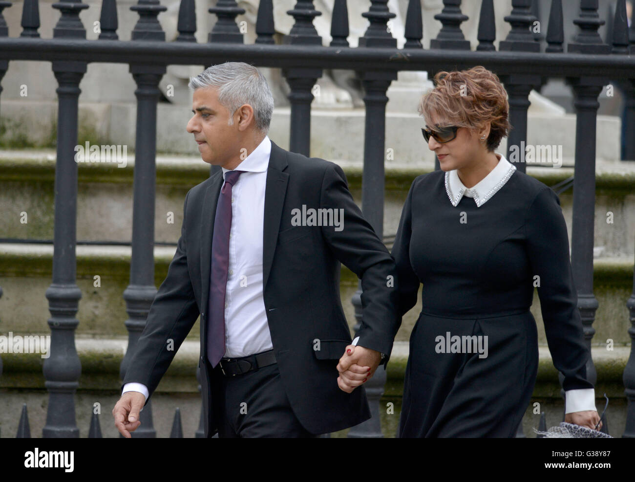 Sadiq Khan and Saadiya, 'London Mayor' in London, Britain, UK - Stock Image
