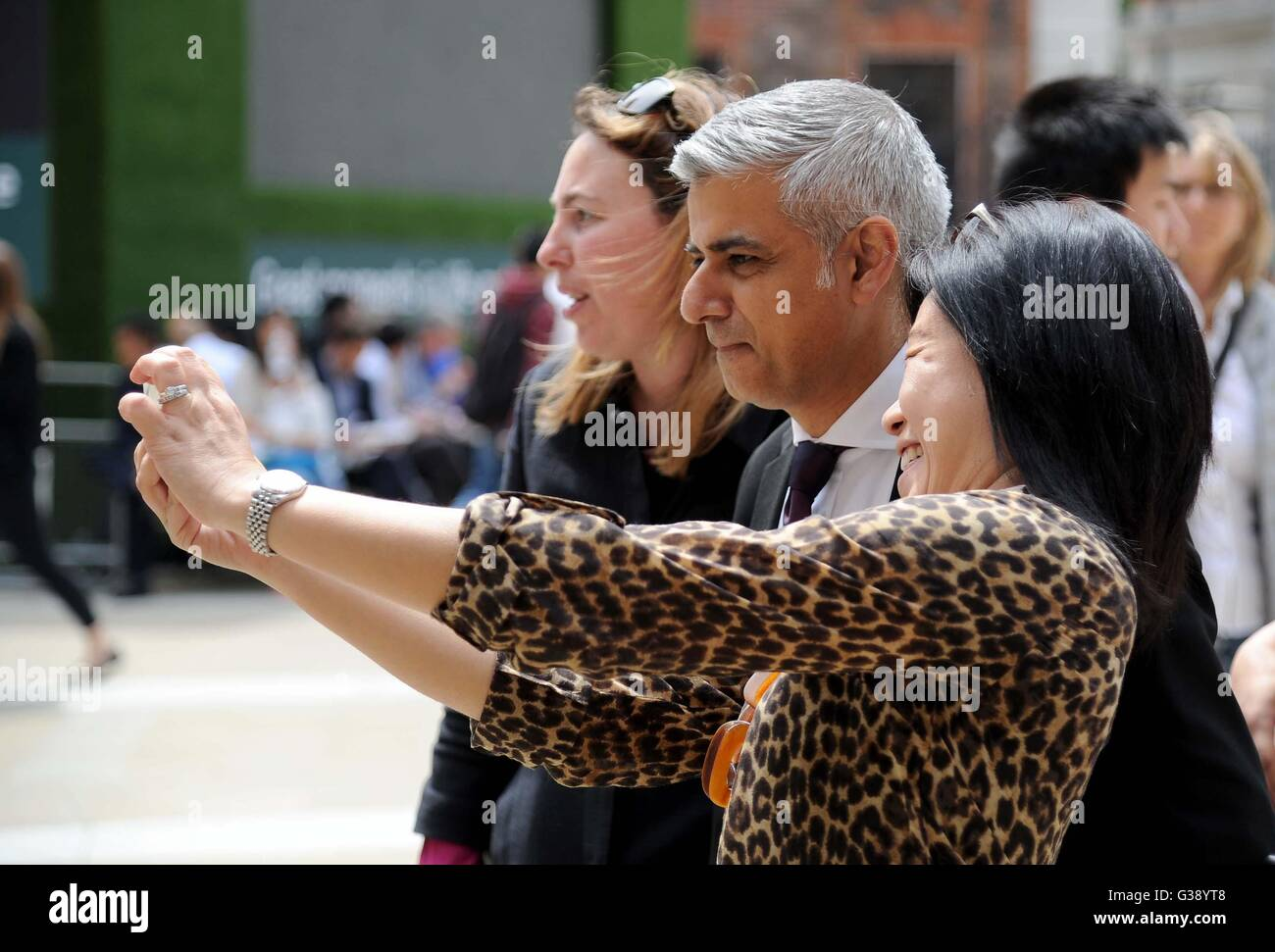 Sadiq Khan and Saadiya, 'London Mayor' in London, Britain, UK - Stock Image