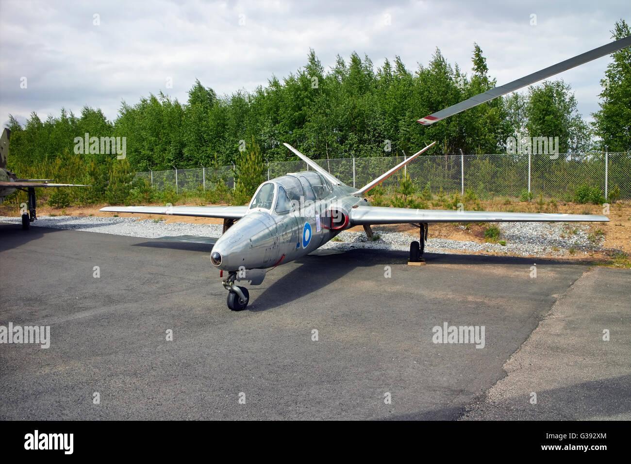 Fouga CM-170 Magister on display, Finland - Stock Image