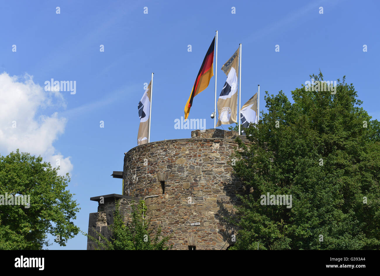 Castle, Loreley, Sankt Goarshausen, Rhineland-Palatinate, Germany Stock Photo