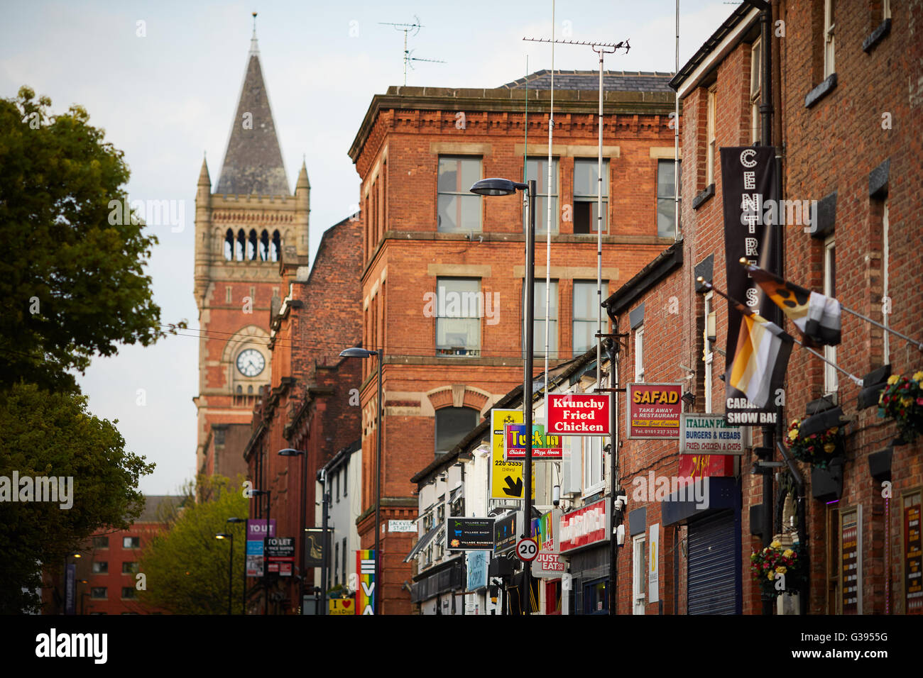 Manchester gay village - Stock Image