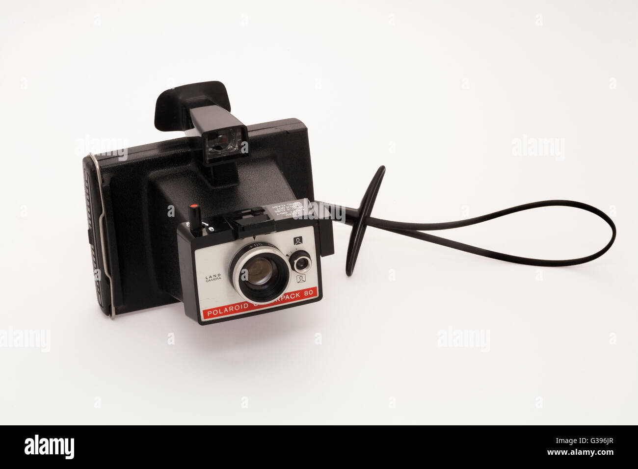 Polaroid ' Colorpack 80 ' Land camera from the 1970s, taking ' instant ' peel - apart  colour and - Stock Image