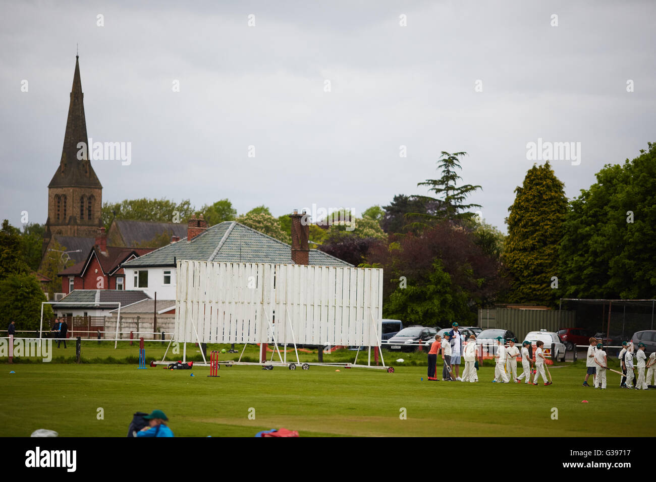 Pontoon cricket club  Sports grounds community Sporting sports healthy health active activity exercise sportsmanship - Stock Image