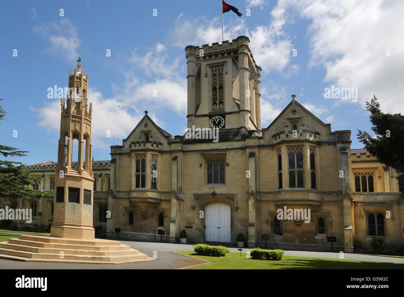 Cheltenham Gloucestershire England Cheltenham College Boer War Memorial Outside Reception - Stock Image