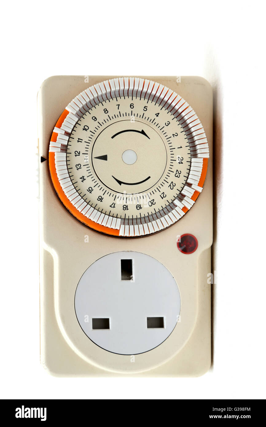 Plug In Light Timer - Stock Image