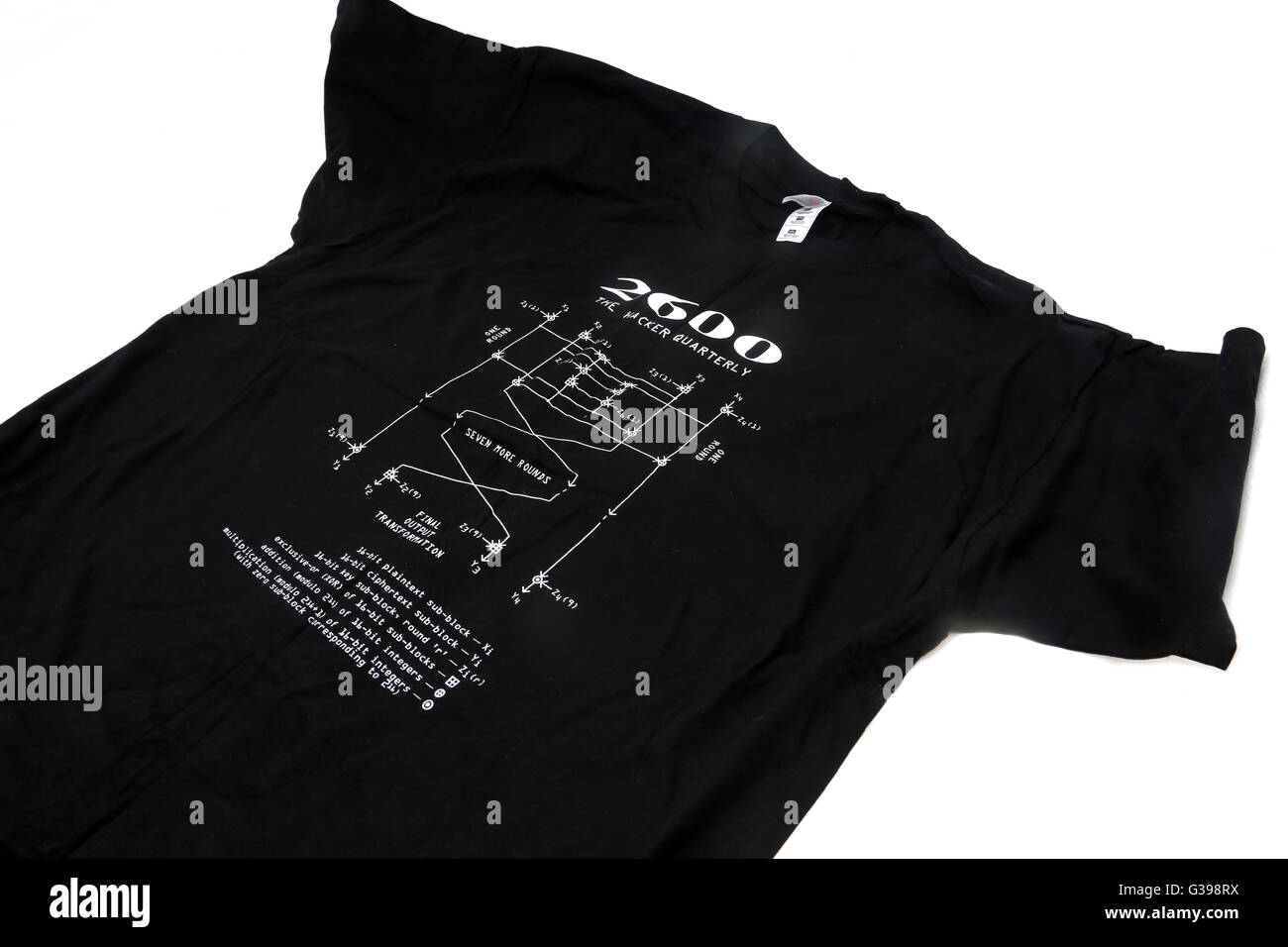 2600 The Hacker Quarterly T-Shirt - Stock Image