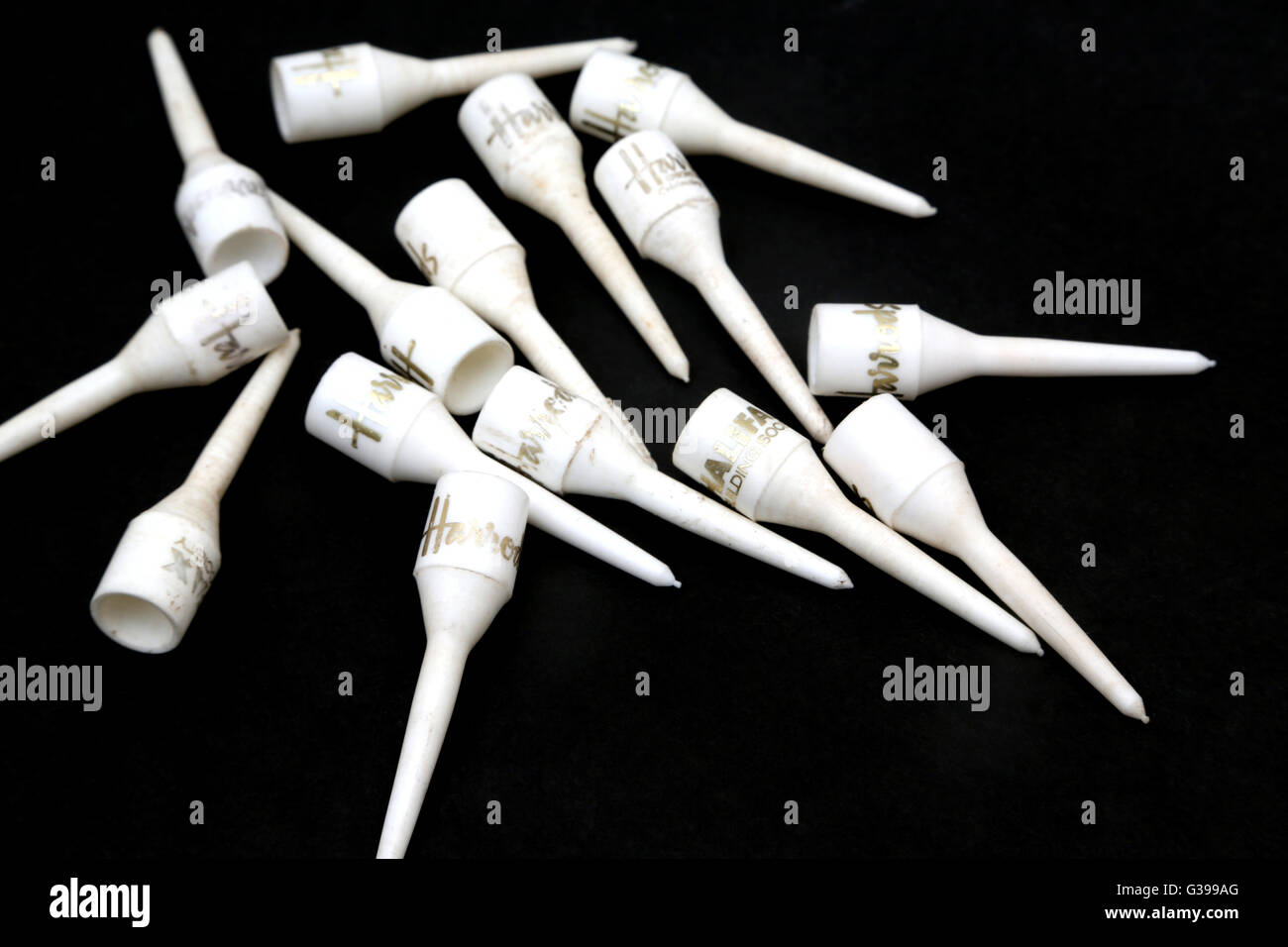 Harrods Golf Tees - Stock Image