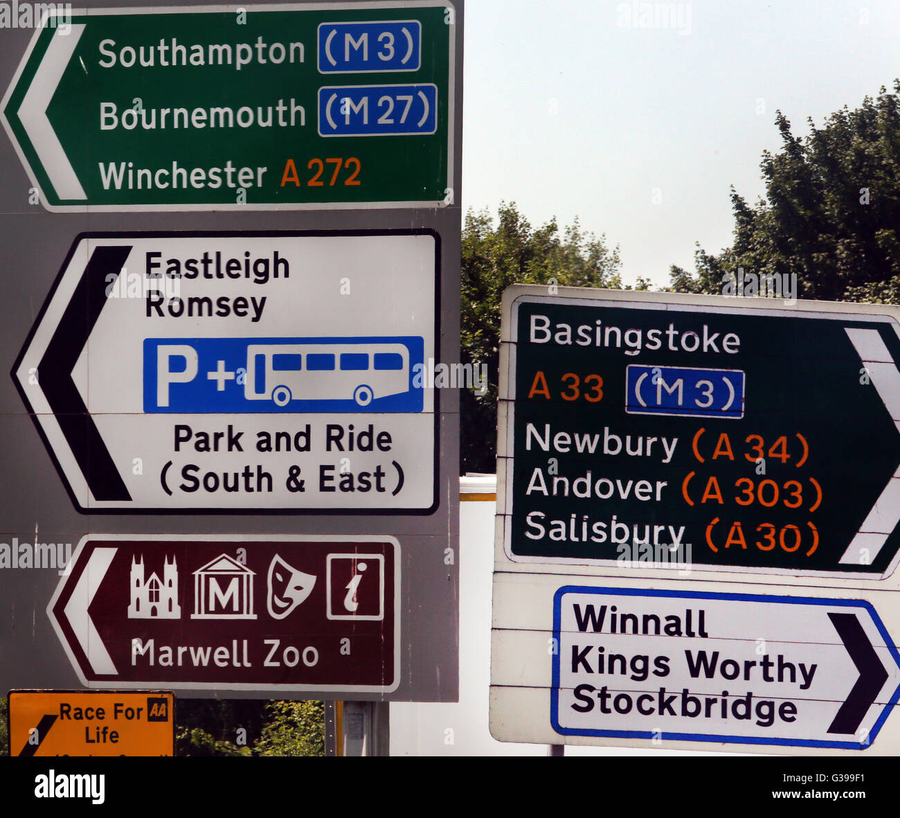 Road Signs England - Stock Image