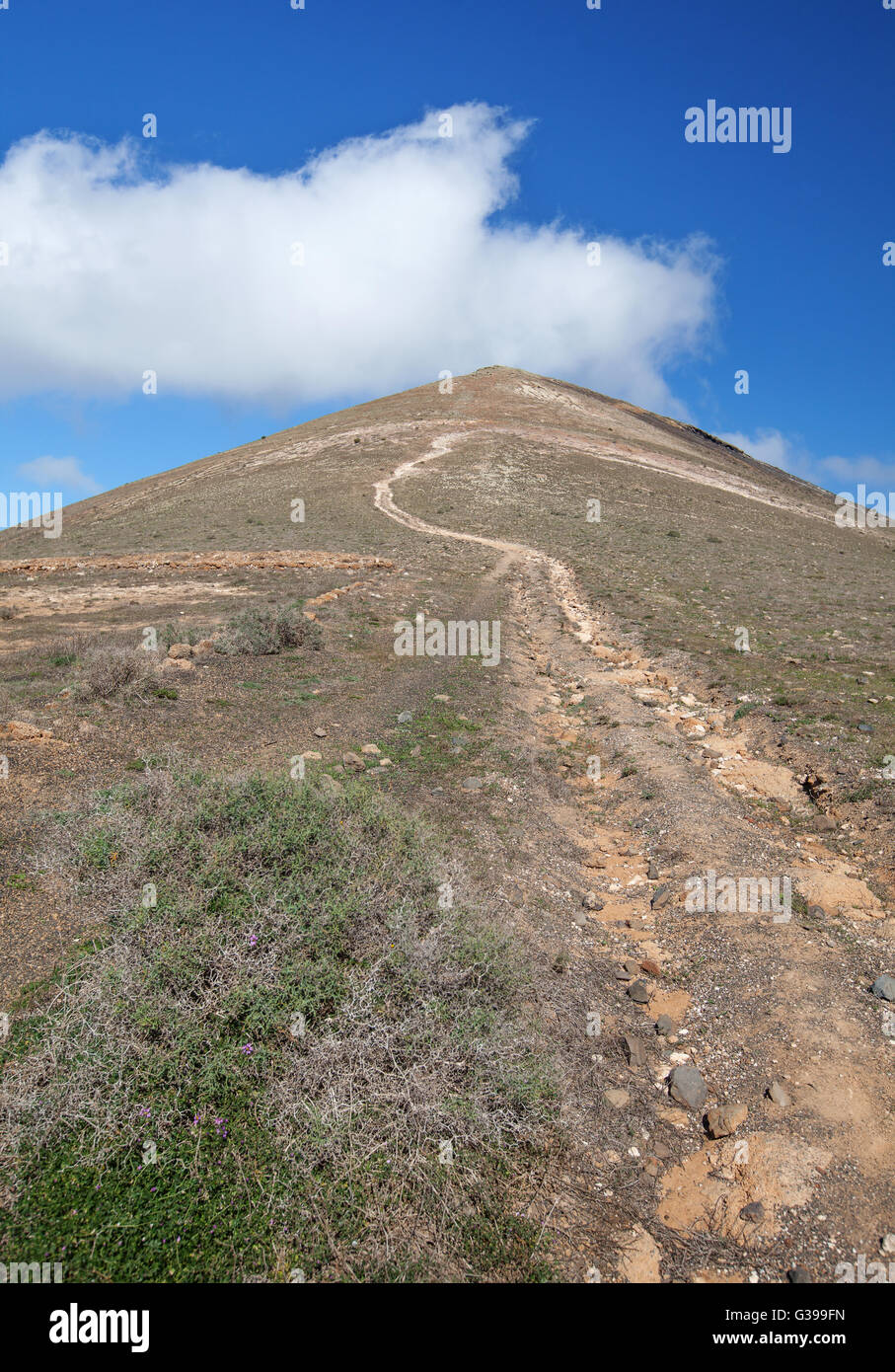 Ascent to the Montana de Guardilama, Lanzarote - Stock Image