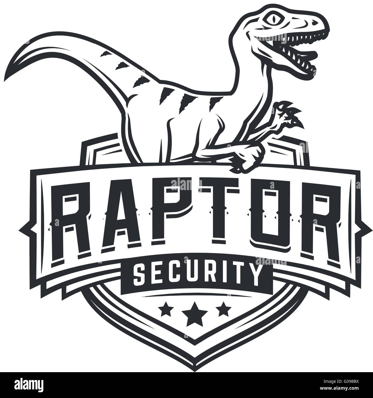 Raptor sport logo mascot design. Vintage college team coat of arms ...
